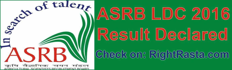 ASRB LDC 2016 Result