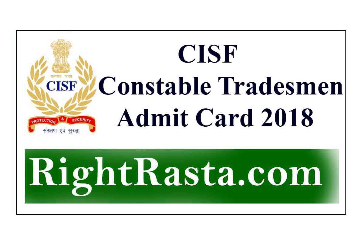 cisf admit card download sweeper