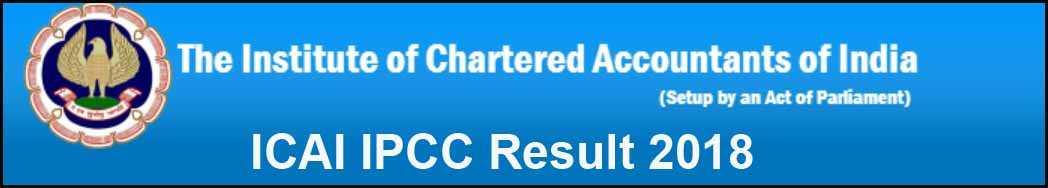 ICAI IPCC Result 2018