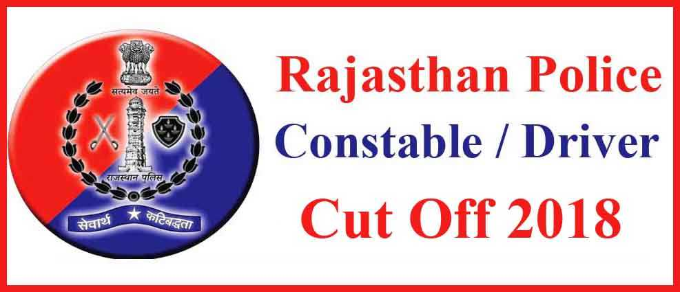 Rajasthan Police Constable Cut Off 2018