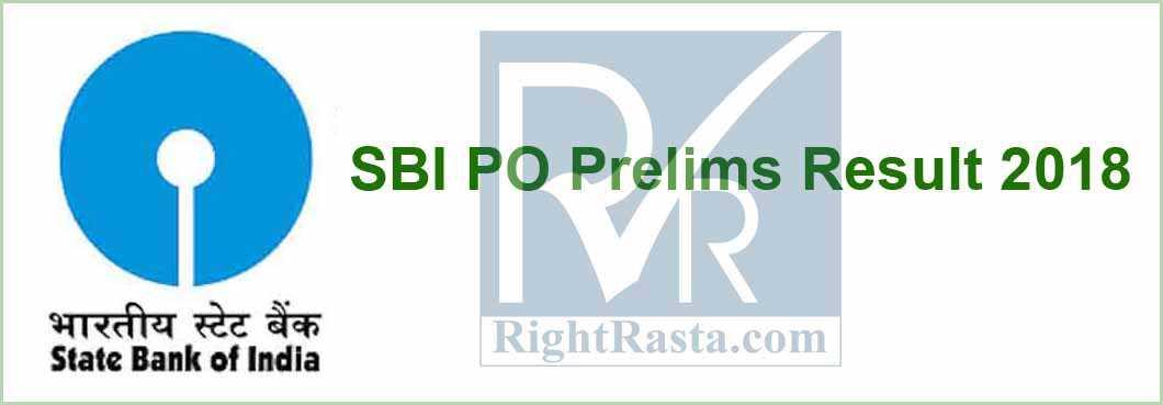 SBI PO Prelims Result 2018