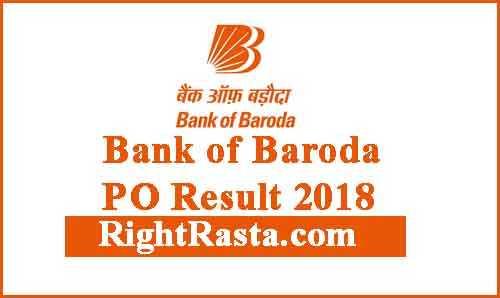 Bank of Baroda PO Result 2018