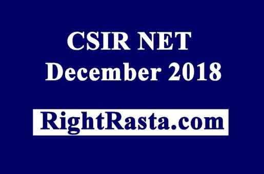 CSIR NET December 2018