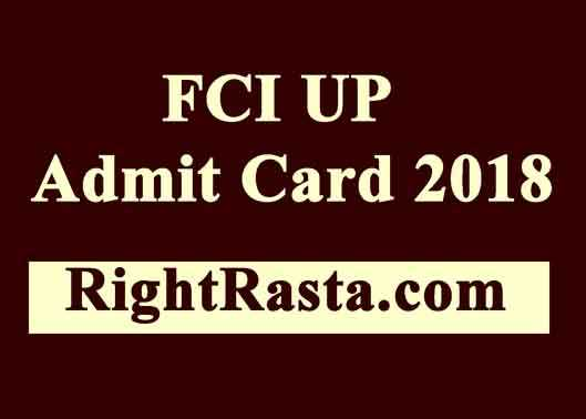 FCI UP Admit Card 2018