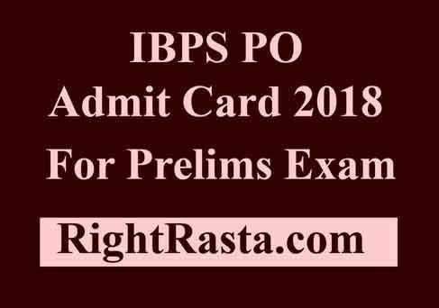 IBPS PO Pre Call Letter 2018