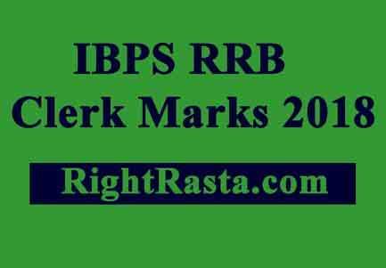 IBPS RRB Clerk Marks 2018