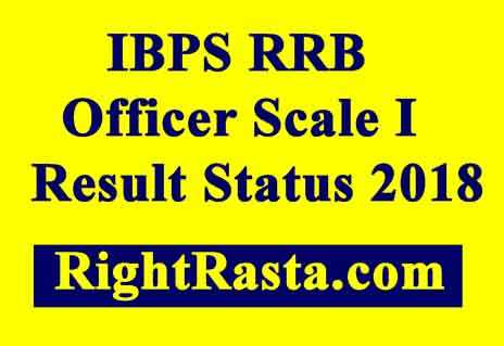 IBPS RRB Officer Scale I Result Status 2018