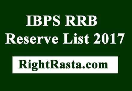 IBPS RRB Reserve List 2017