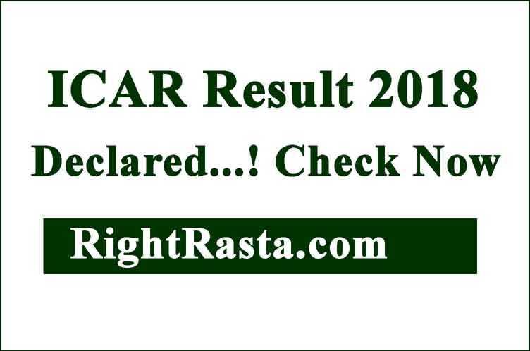 ICAR Result 2018