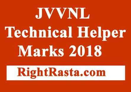 JVVNL Technical Helper Marks 2018