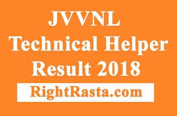 JVVNL Technical Helper Result