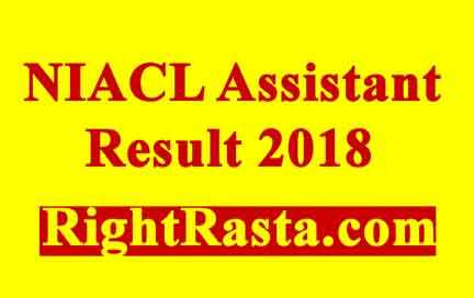 NIACL Assistant Result 2018