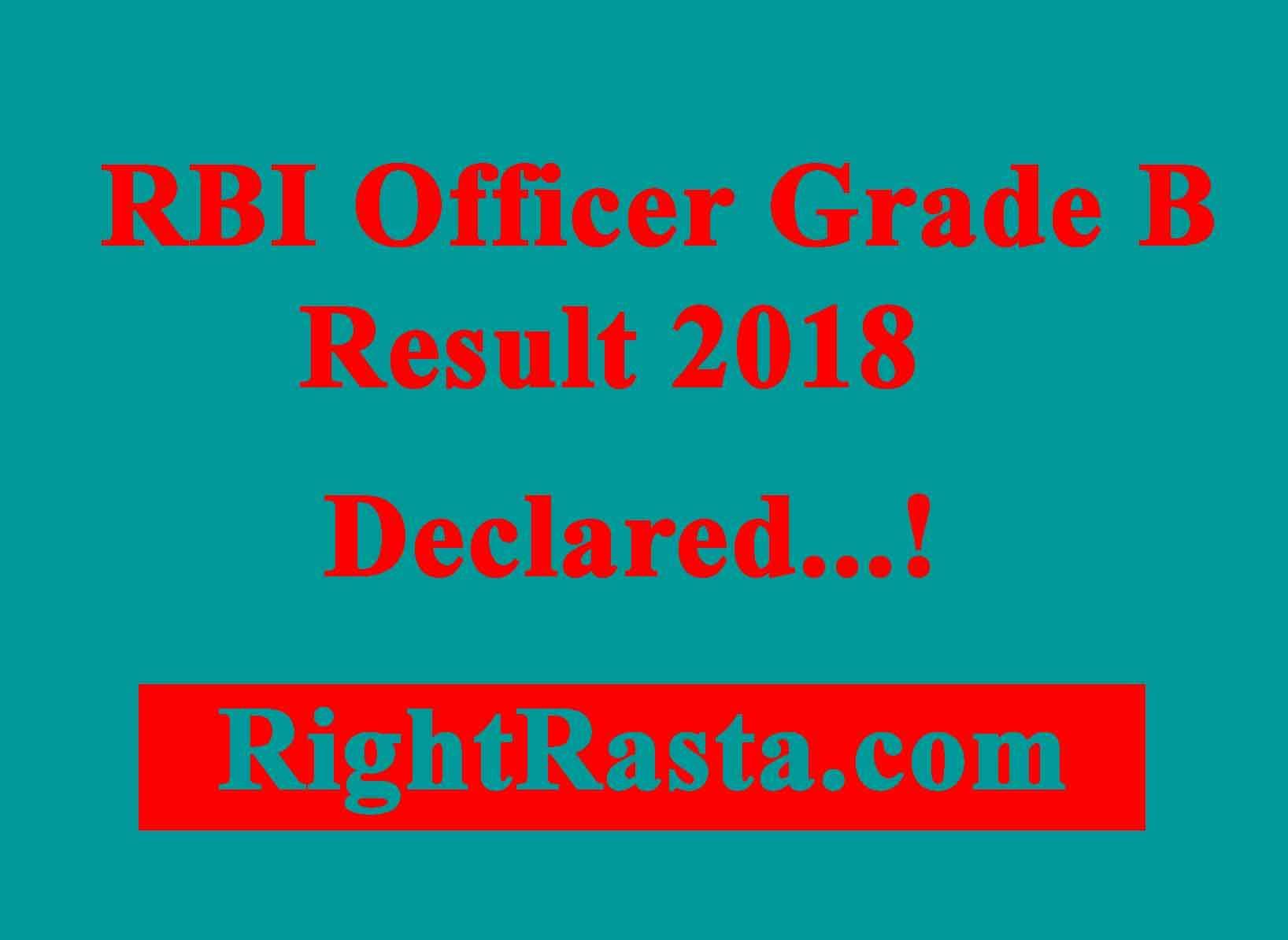 RBI Officer Grade B Result 2018