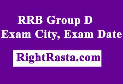 RRB Group D Exam City