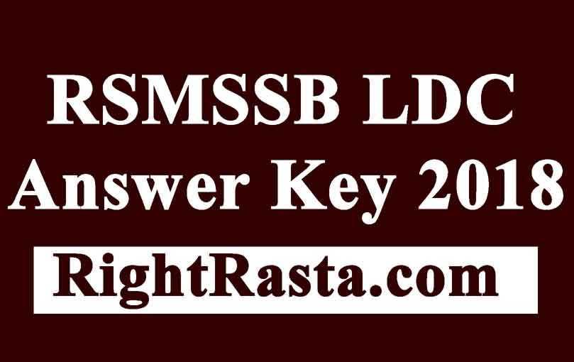 RSMSSB LDC Answer Key 2018