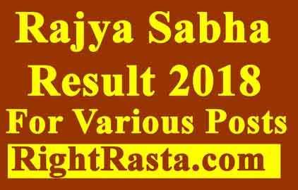 Rajya Sabha Result 2018