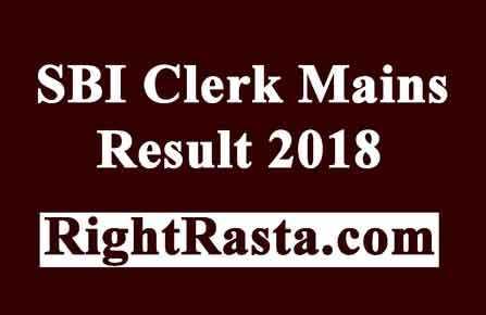 SBI Clerk Mains Result 2018