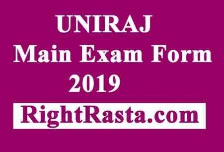 UNIRAJ Main Exam Form 2019