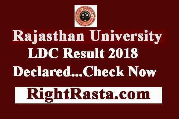 Uniraj LDC Result 2018