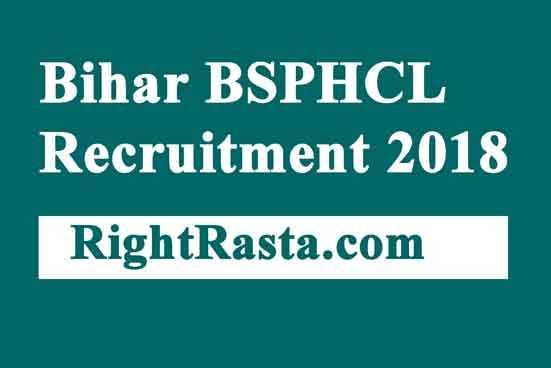 Bihar BSPHCL Recruitment 2018