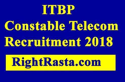 ITBP Constable Telecom Recruitment 2018
