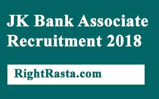 JK Bank Associate Recruitment 2018