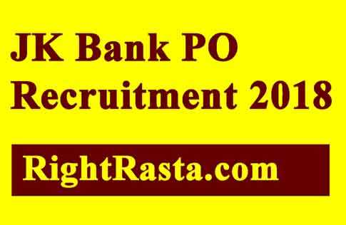 JK Bank PO Recruitment 2018