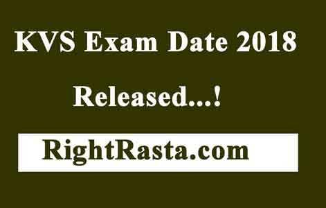 KVS Exam Date 2018