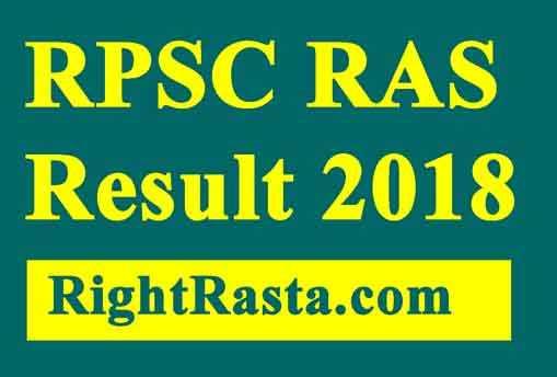 RPSC RAS Result 2018