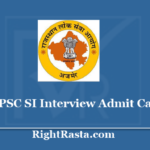 RPSC SI Interview Admit Card 2020 - Download Rajasthan Police SI Interview Call Letter