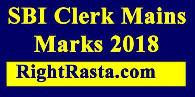 SBI Clerk Mains Marks 2018