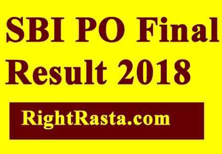 SBI PO Final Result 2018