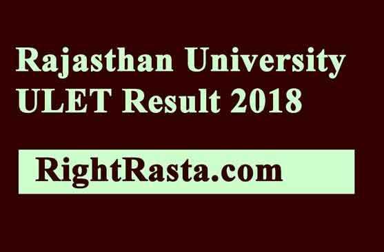 UNIRAJ ULET Result 2018