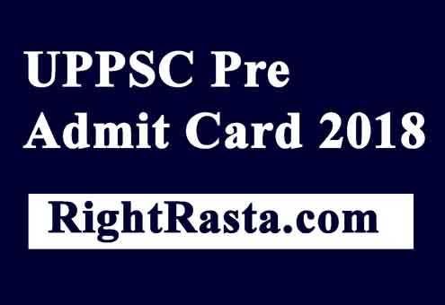 UPPSC Pre Admit Card 2018