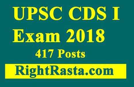 UPSC CDS I Exam 2018
