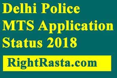 Delhi Police MTS Application Status 2018