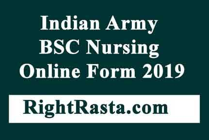 Indian Army BSC Nursing Online Form 2019-MNS Admission