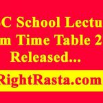 RPSC School Lecturer Exam Time Table 2019