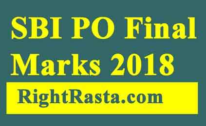 SBI PO Final Result Marks 2018
