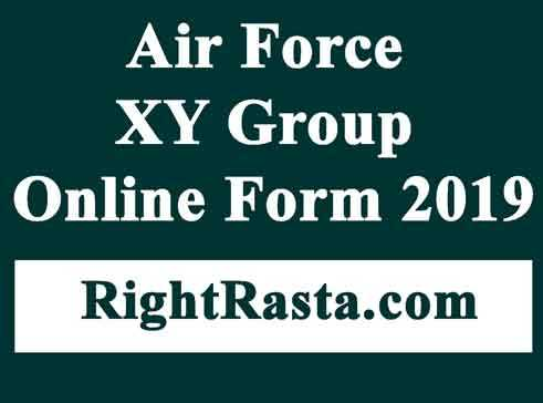Air Force XY Group Online Form 2019