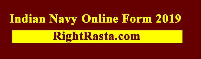 Indian Navy Online Form 2019