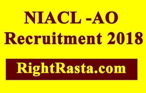 NIACL AO Recruitment 2018