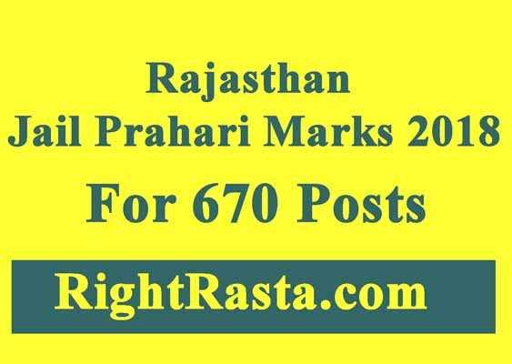 Rajasthan Jail Prahari Marks 2018