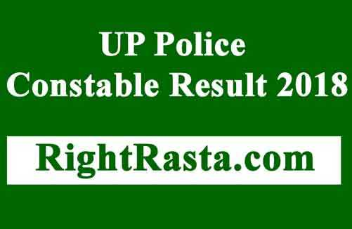 UP Police Constable Result 2018