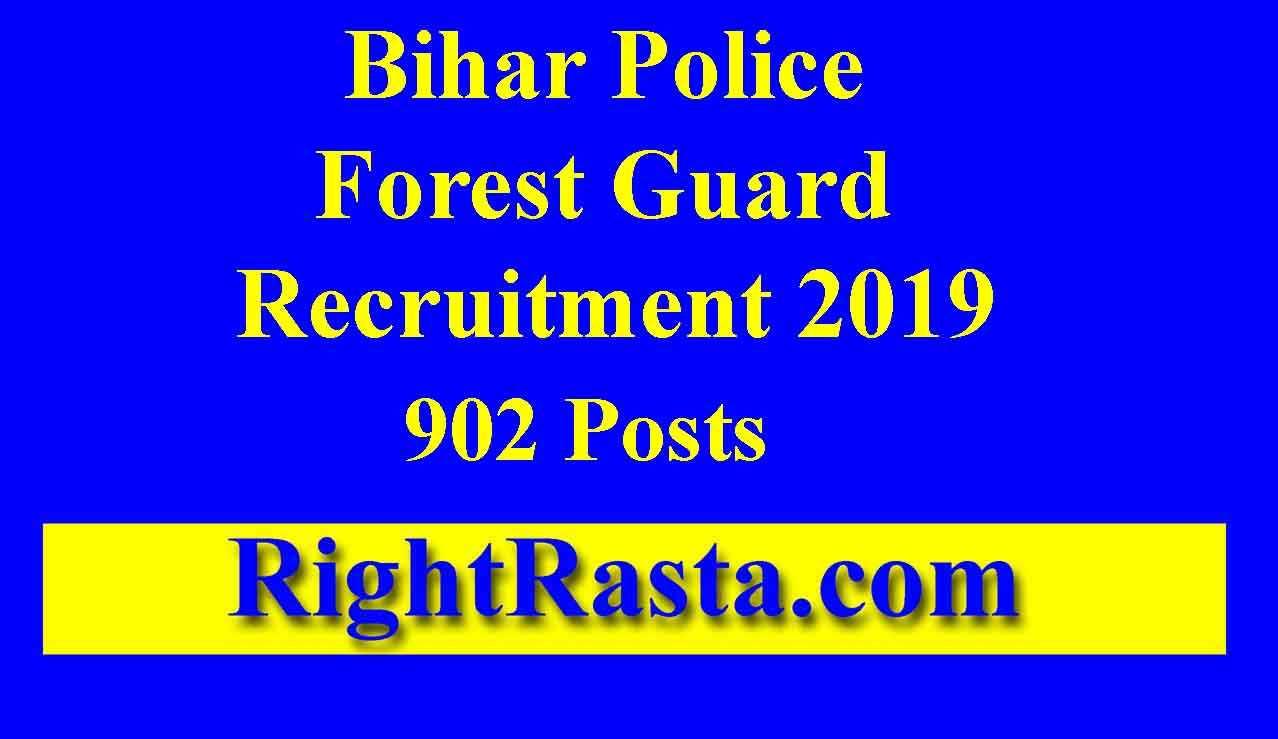 Bihar Police Forest Guard Recruitment 2019