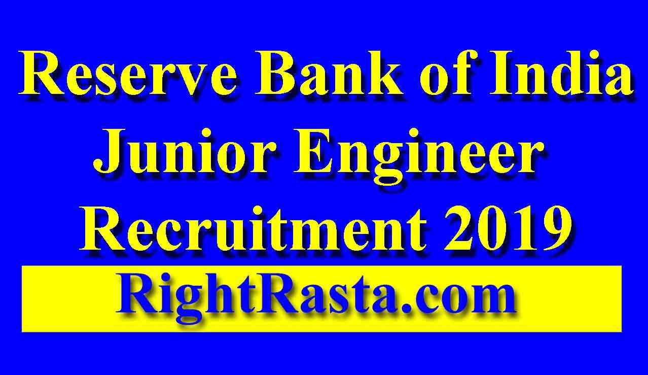 RBI JE Online Form 2019