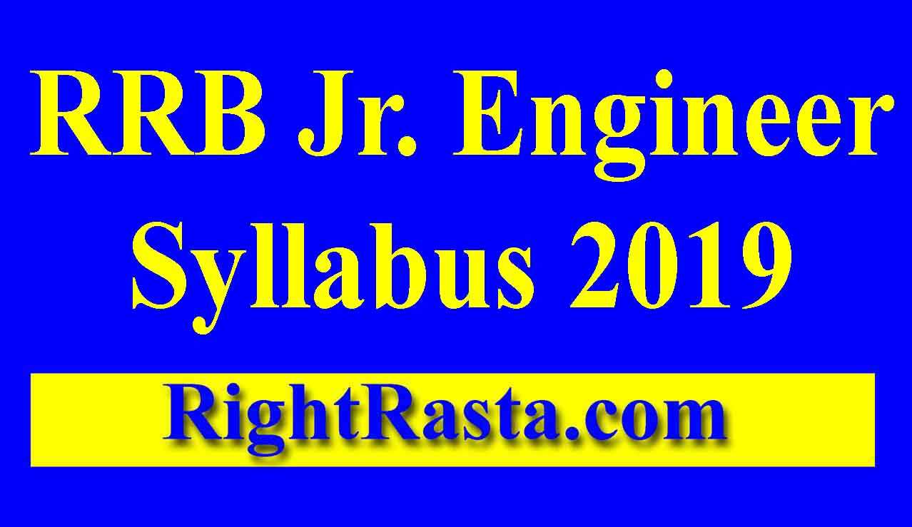 RRB JE Syllabus 2019