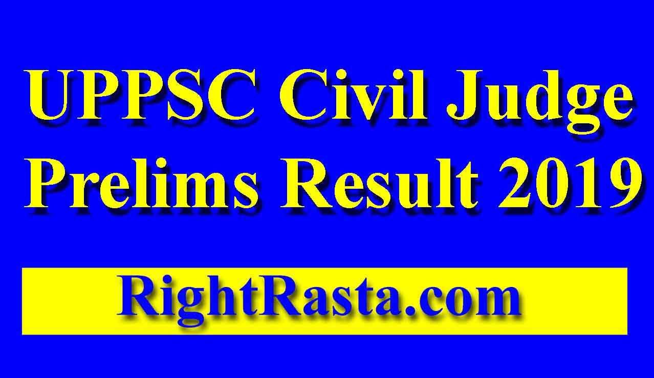 UPPSC Civil Judge Prelims Result 2019