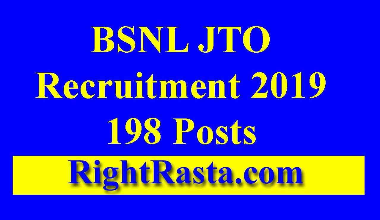 BSNL JTO Recruitment Online Form 2019