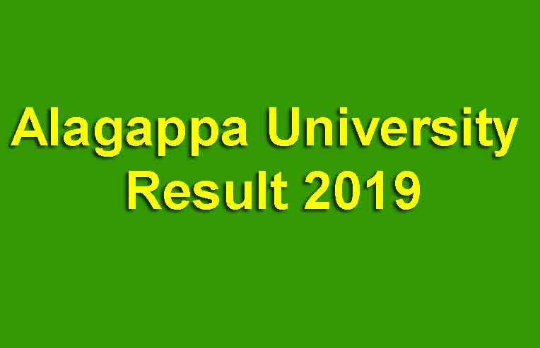 Alagappa University Result 2019